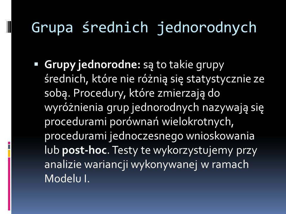 Grupa średnich jednorodnych