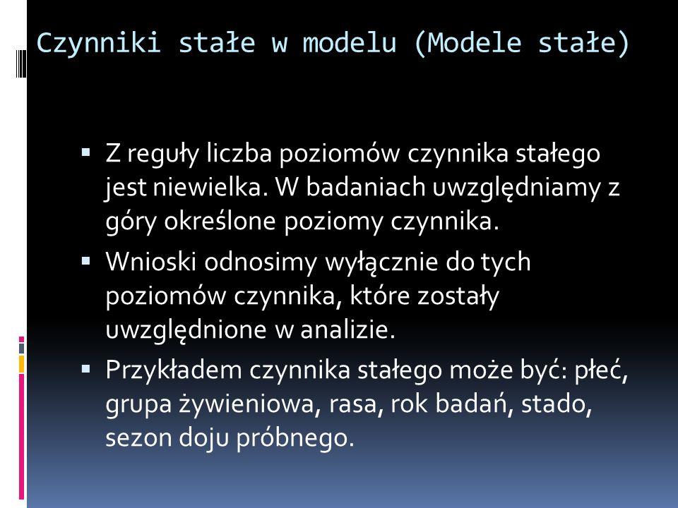 Czynniki stałe w modelu (Modele stałe)