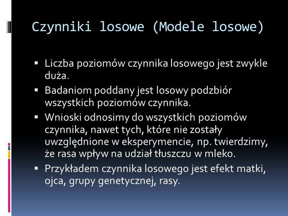 Czynniki losowe (Modele losowe)