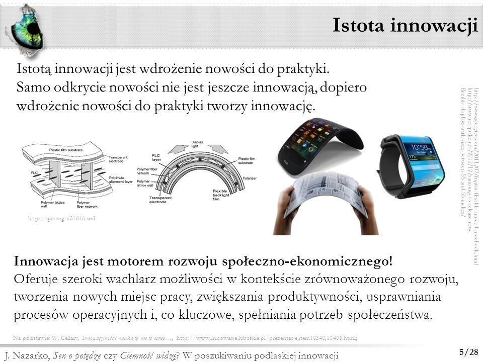 Istota innowacji Istotą innowacji jest wdrożenie nowości do praktyki.
