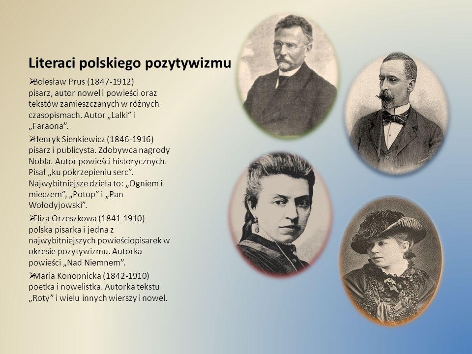 Literaci polskiego pozytywizmu