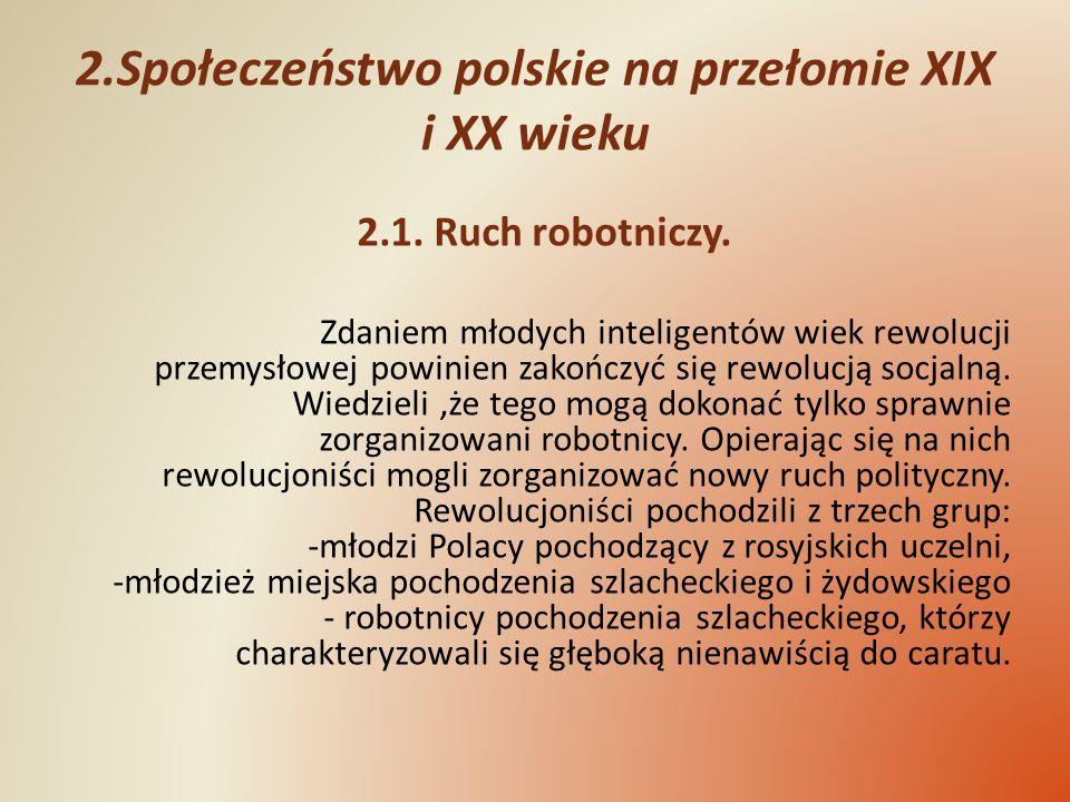 2.Społeczeństwo polskie na przełomie XIX i XX wieku