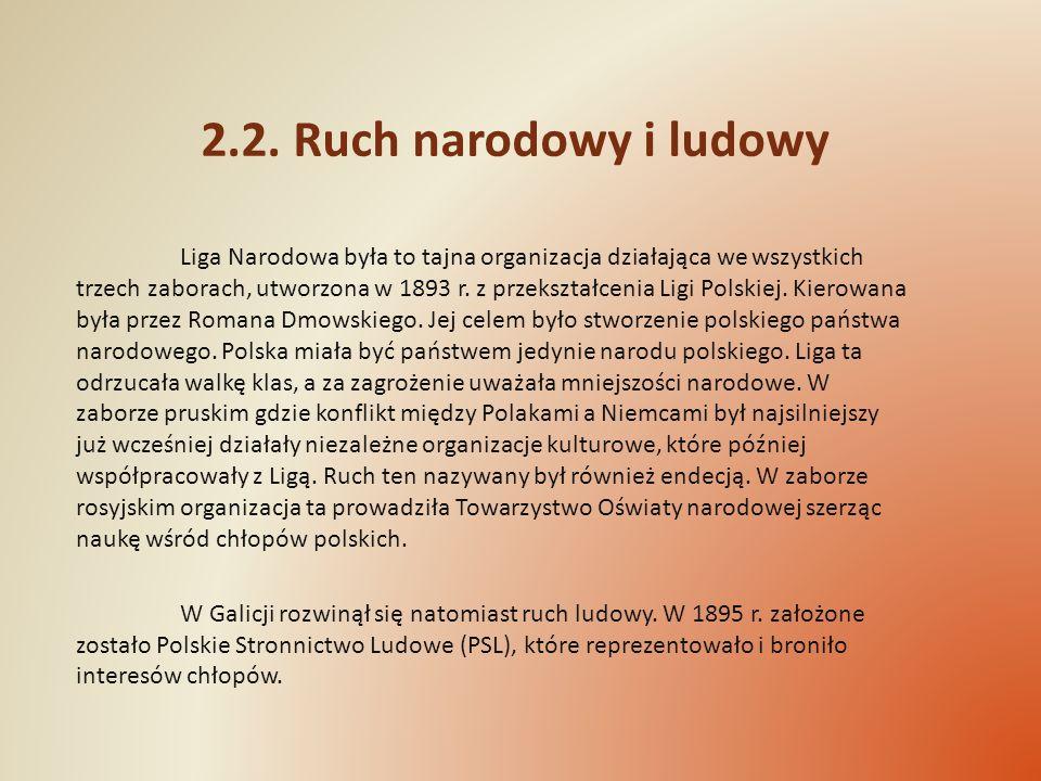 2.2. Ruch narodowy i ludowy