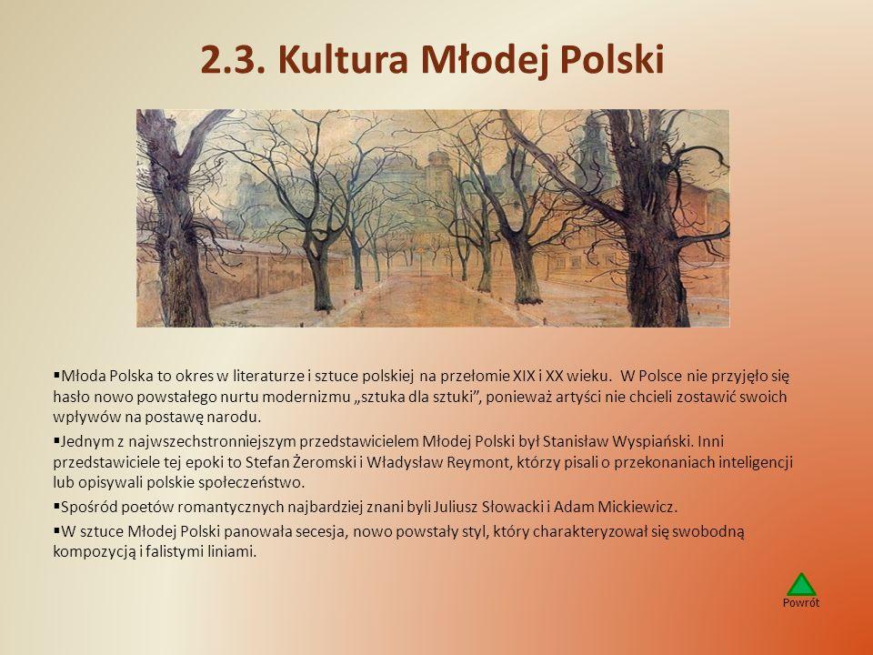 2.3. Kultura Młodej Polski