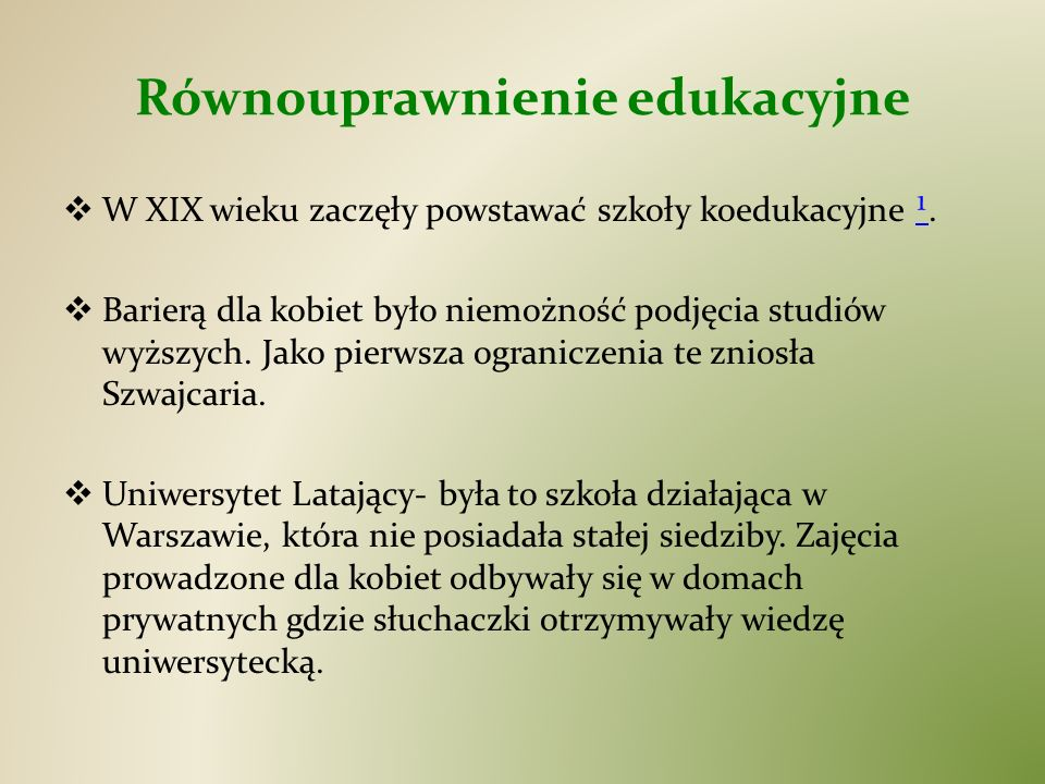 Równouprawnienie edukacyjne