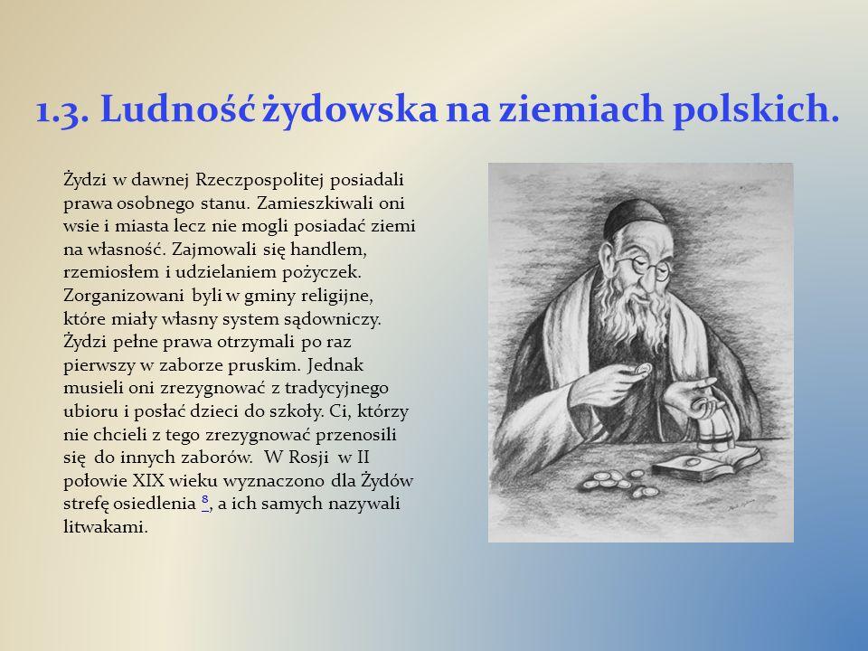 1.3. Ludność żydowska na ziemiach polskich.