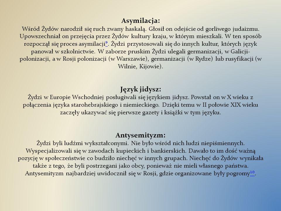 Asymilacja: Wśród Żydów narodził się ruch zwany haskalą