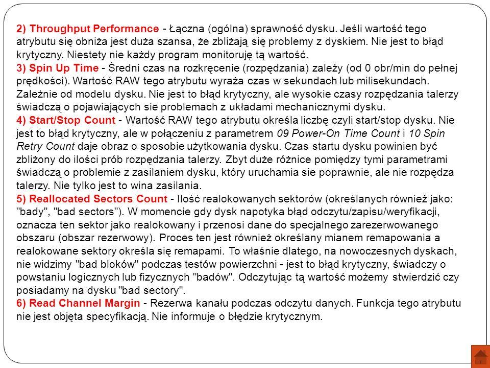 2) Throughput Performance - Łączna (ogólna) sprawność dysku