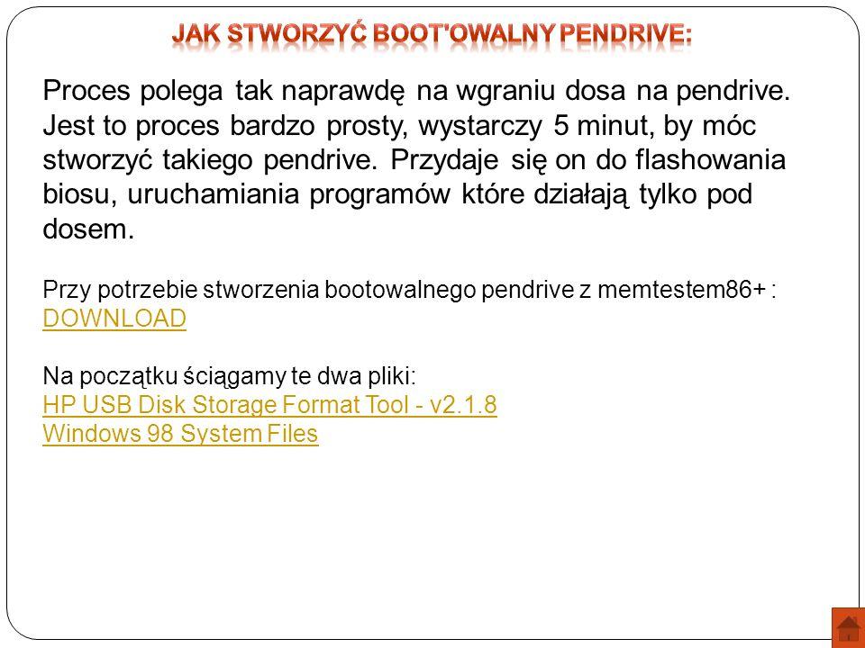 Jak stworzyć boot owalny pendrive: