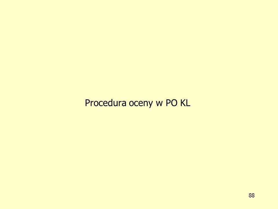Procedura oceny w PO KL