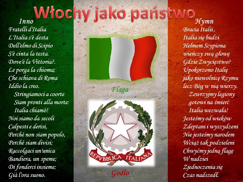 Włochy jako państwo Inno Hymn Flaga Godło