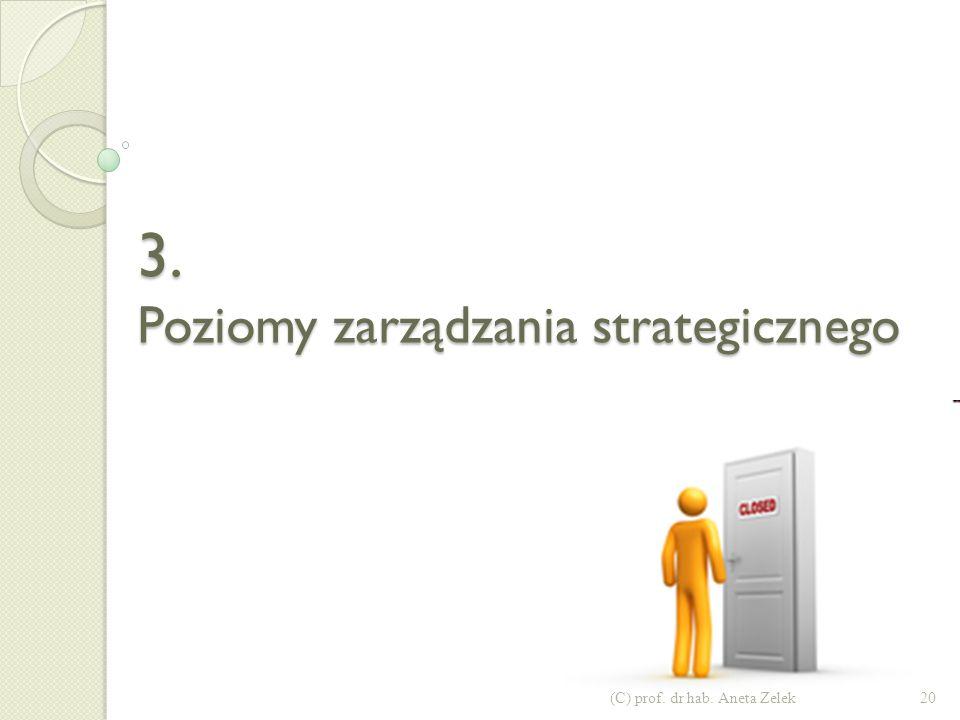 3. Poziomy zarządzania strategicznego