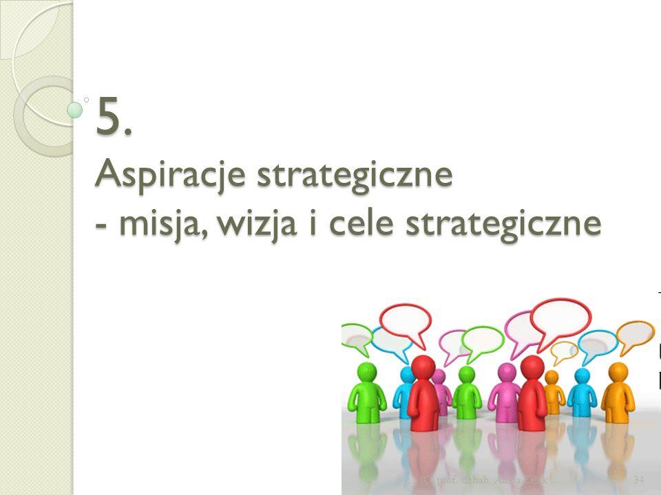 5. Aspiracje strategiczne - misja, wizja i cele strategiczne