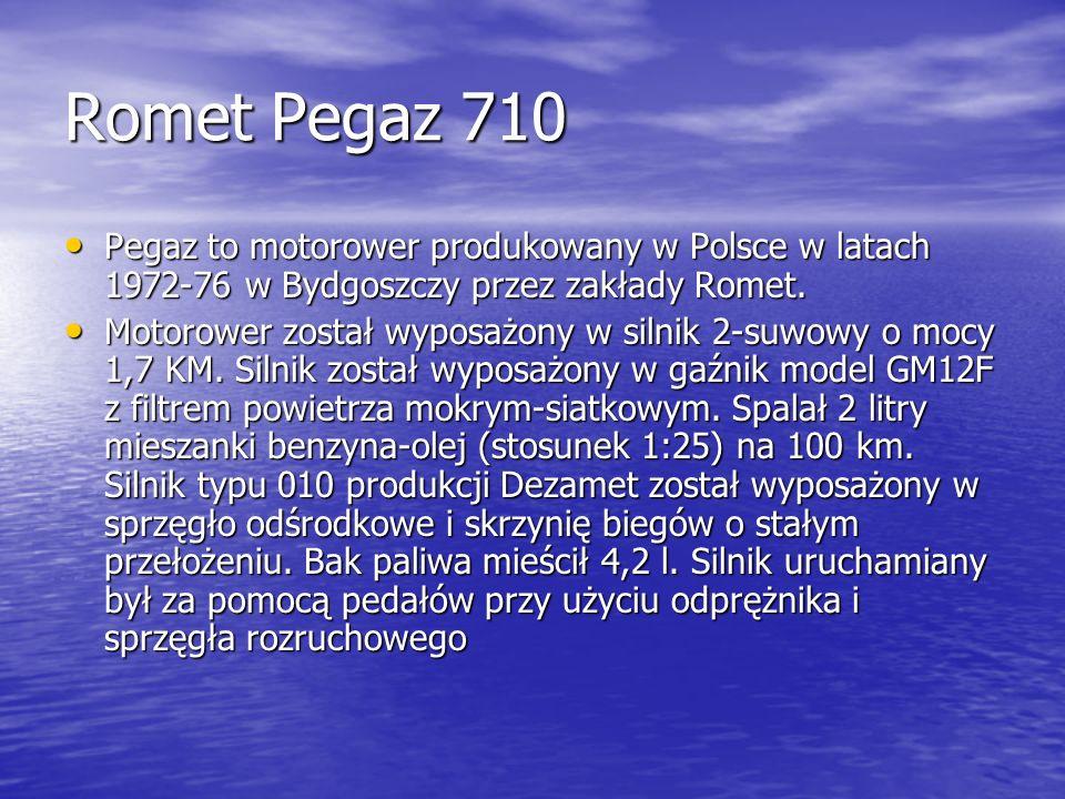 Romet Pegaz 710 Pegaz to motorower produkowany w Polsce w latach 1972-76 w Bydgoszczy przez zakłady Romet.