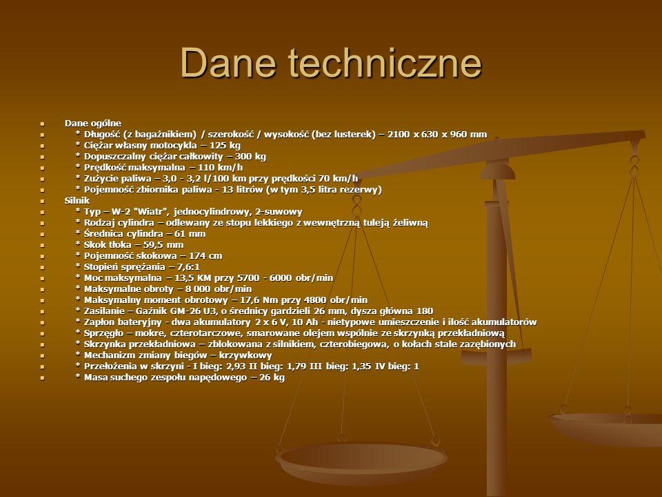 Dane techniczne Dane ogólne