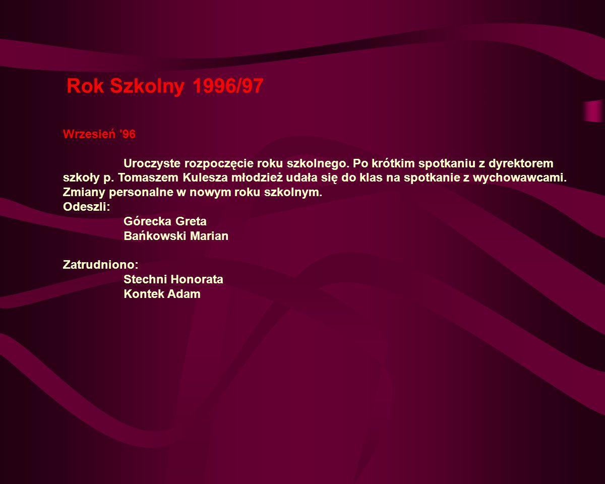 Rok Szkolny 1996/97 Wrzesień 96.