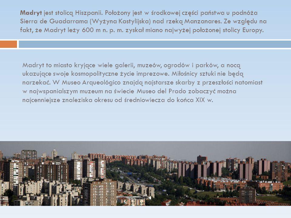 Madryt jest stolicą Hiszpanii