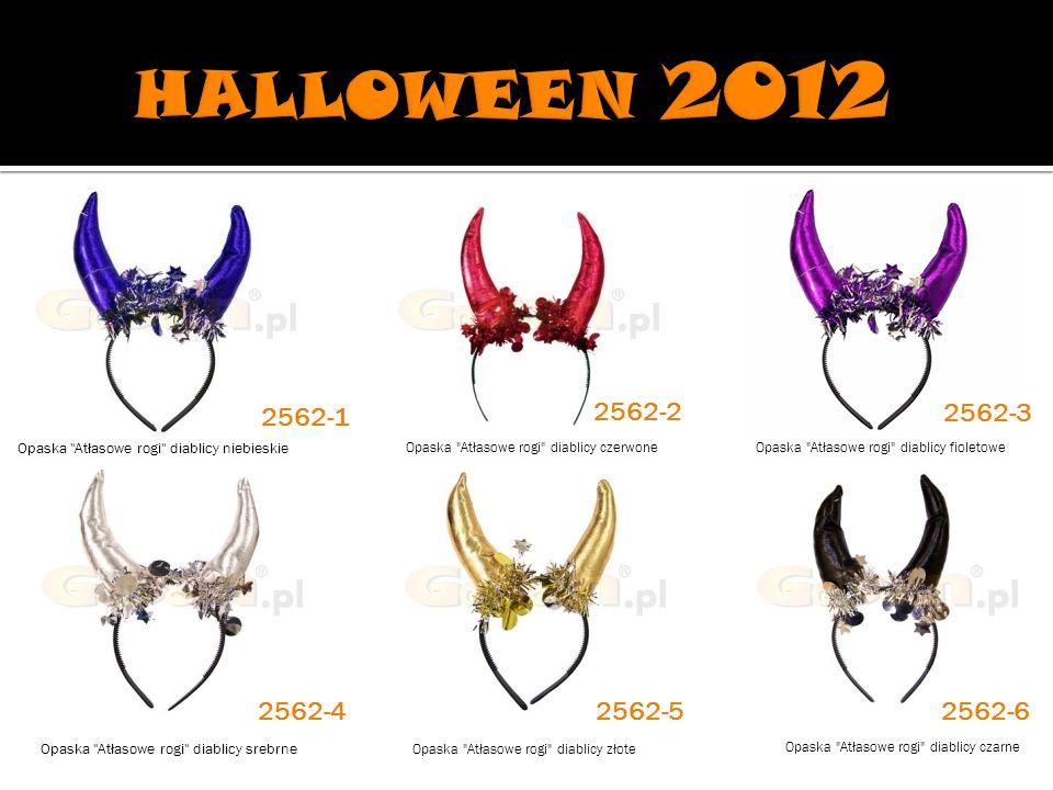 HALLOWEEN 2012 2562-1. 2562-2. 2562-3. Opaska Atłasowe rogi diablicy niebieskie. Opaska Atłasowe rogi diablicy czerwone.