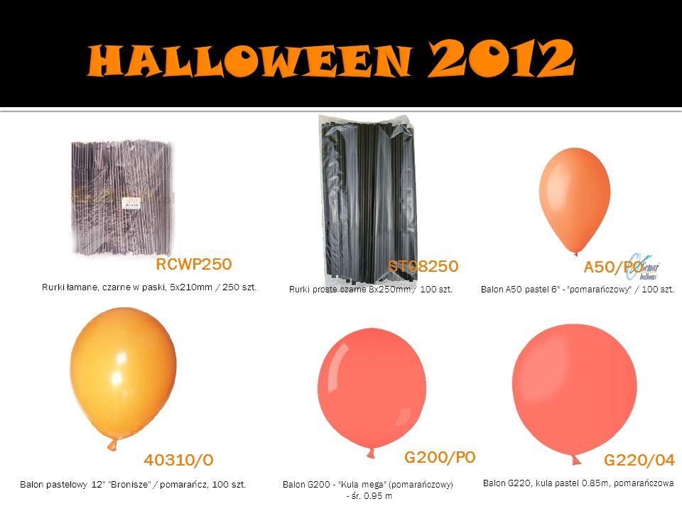 HALLOWEEN 2012 RCWP250 ST08250 A50/PO G200/PO 40310/O G220/04