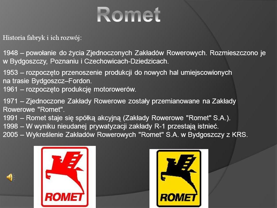 Romet Historia fabryk i ich rozwój: