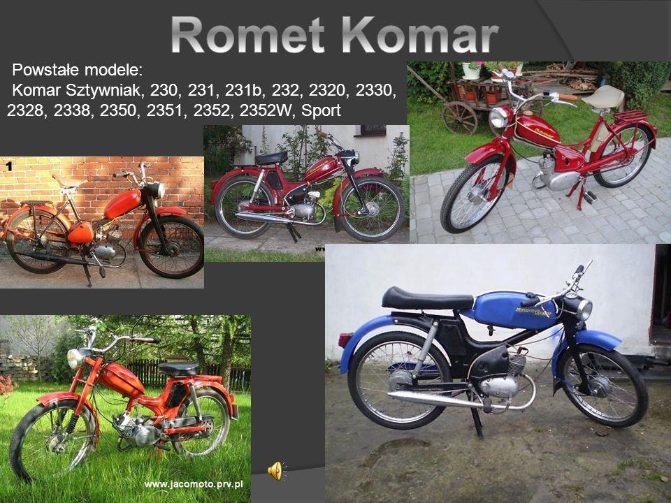Romet Komar Powstałe modele: