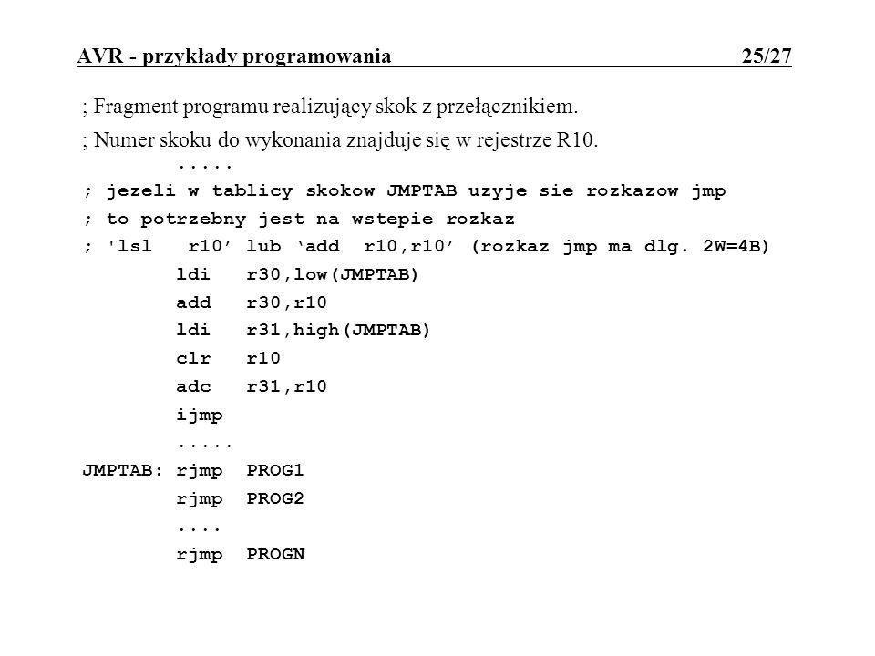 AVR - przykłady programowania 25/27