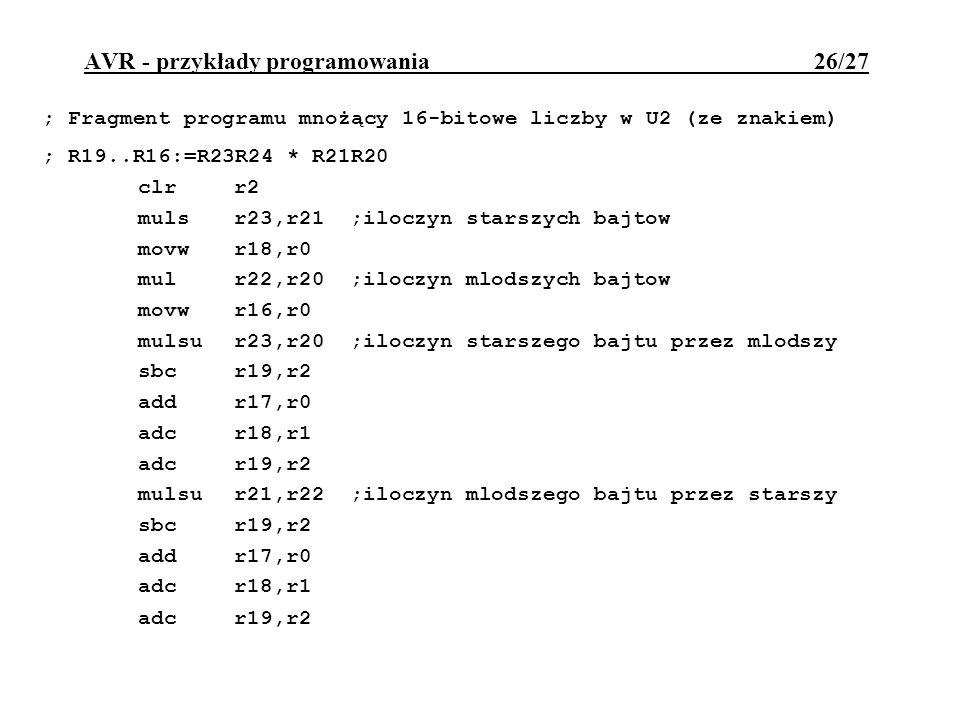 AVR - przykłady programowania 26/27