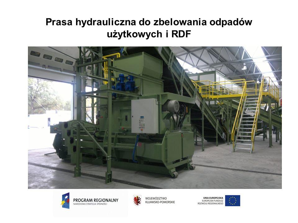 Prasa hydrauliczna do zbelowania odpadów użytkowych i RDF