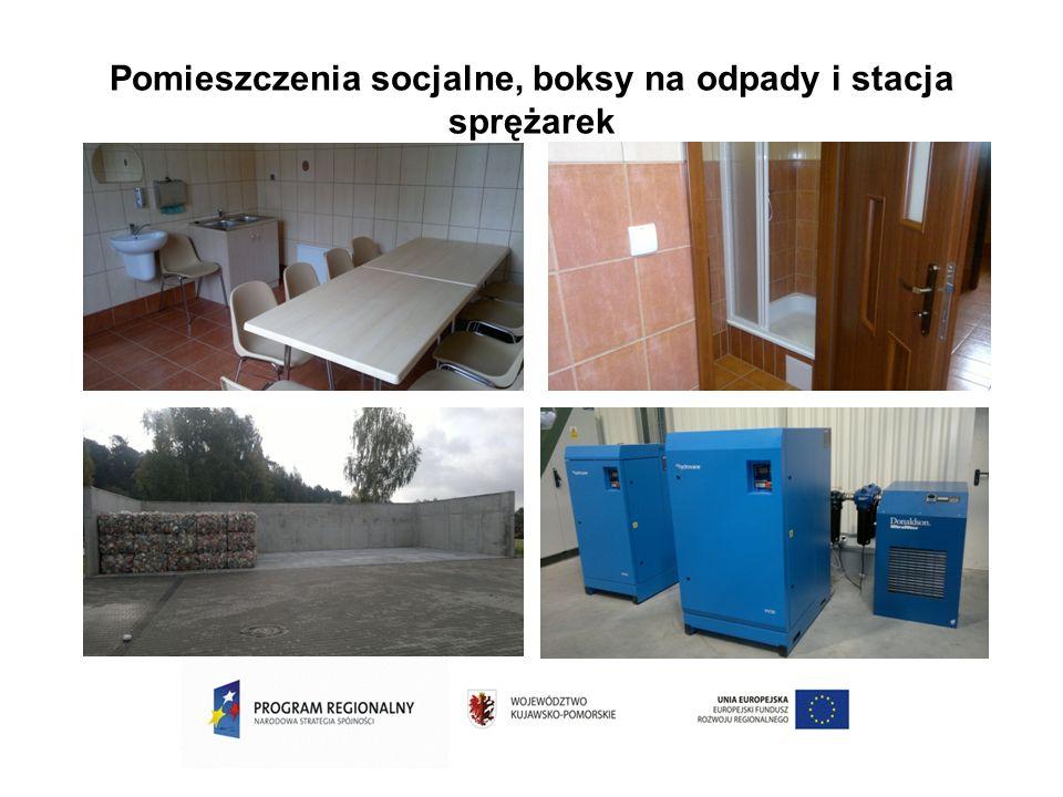 Pomieszczenia socjalne, boksy na odpady i stacja sprężarek