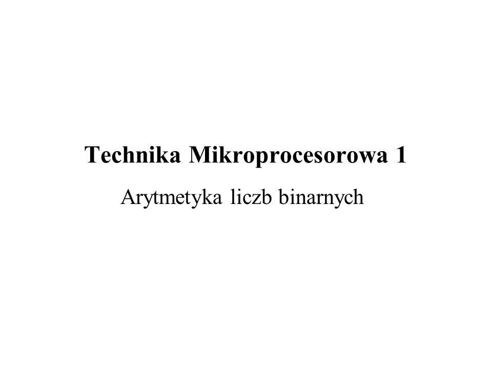 Technika Mikroprocesorowa 1