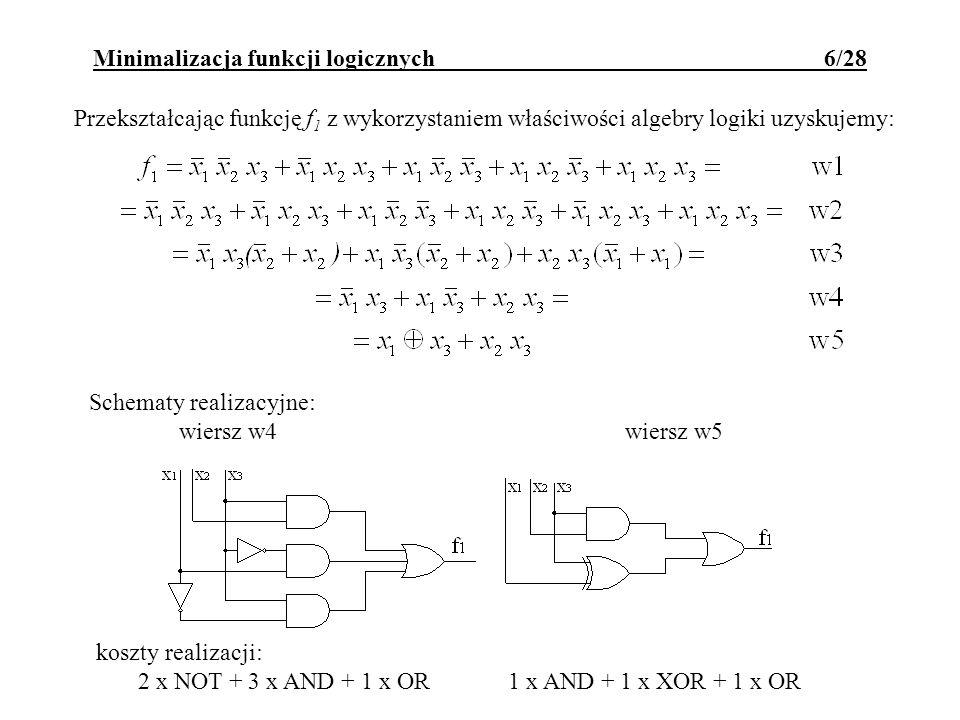 Minimalizacja funkcji logicznych 6/28