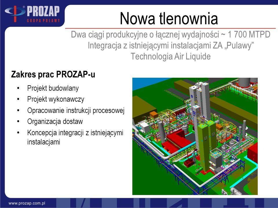 Dwa ciągi produkcyjne o łącznej wydajności ~ 1 700 MTPD