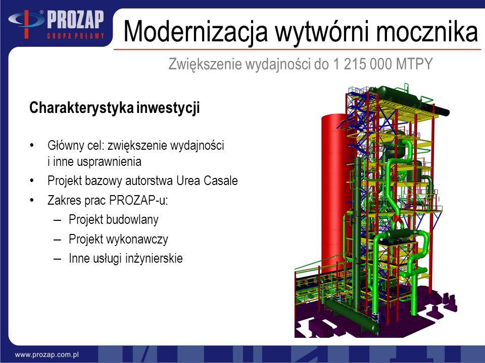 Modernizacja wytwórni mocznika