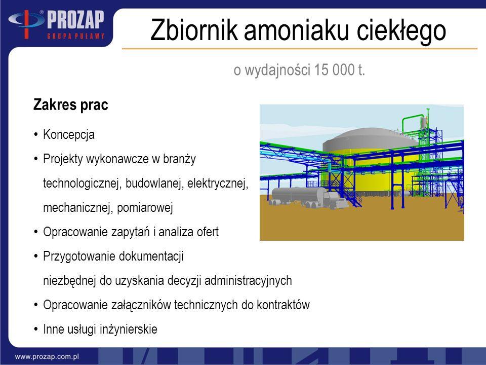 Zbiornik amoniaku ciekłego