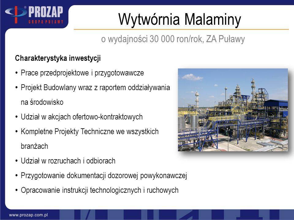 o wydajności 30 000 ron/rok, ZA Puławy
