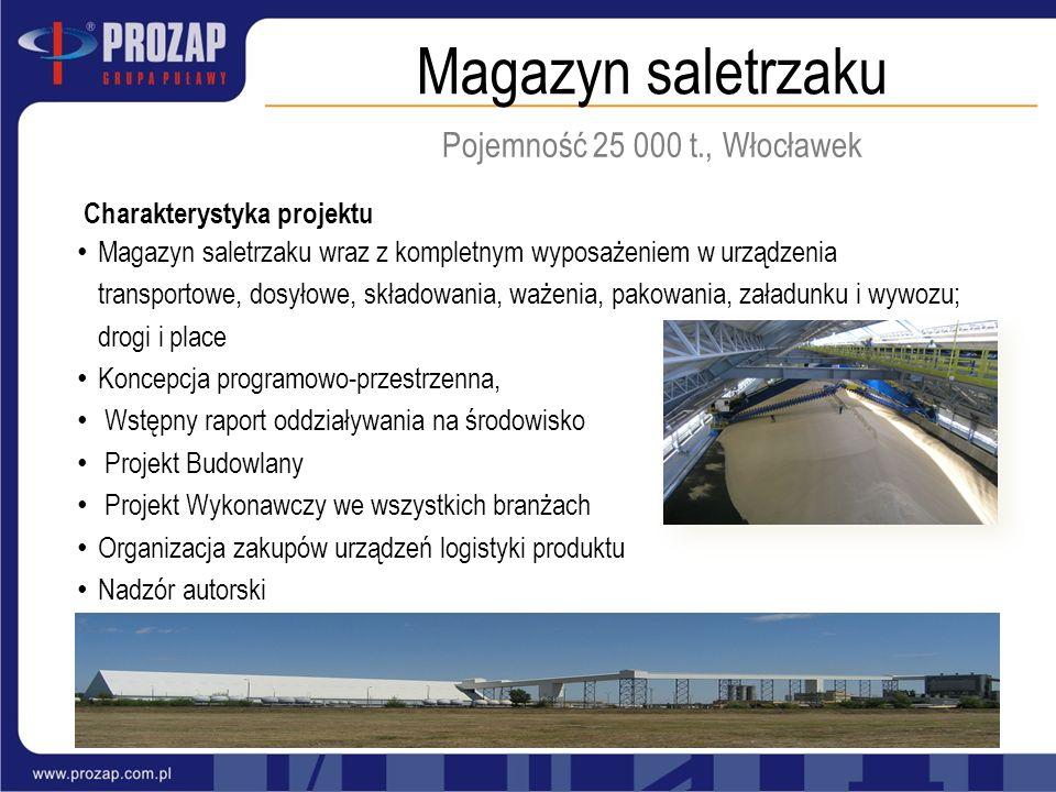 Magazyn saletrzaku Pojemność 25 000 t., Włocławek