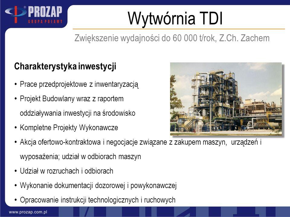 Zwiększenie wydajności do 60 000 t/rok, Z.Ch. Zachem