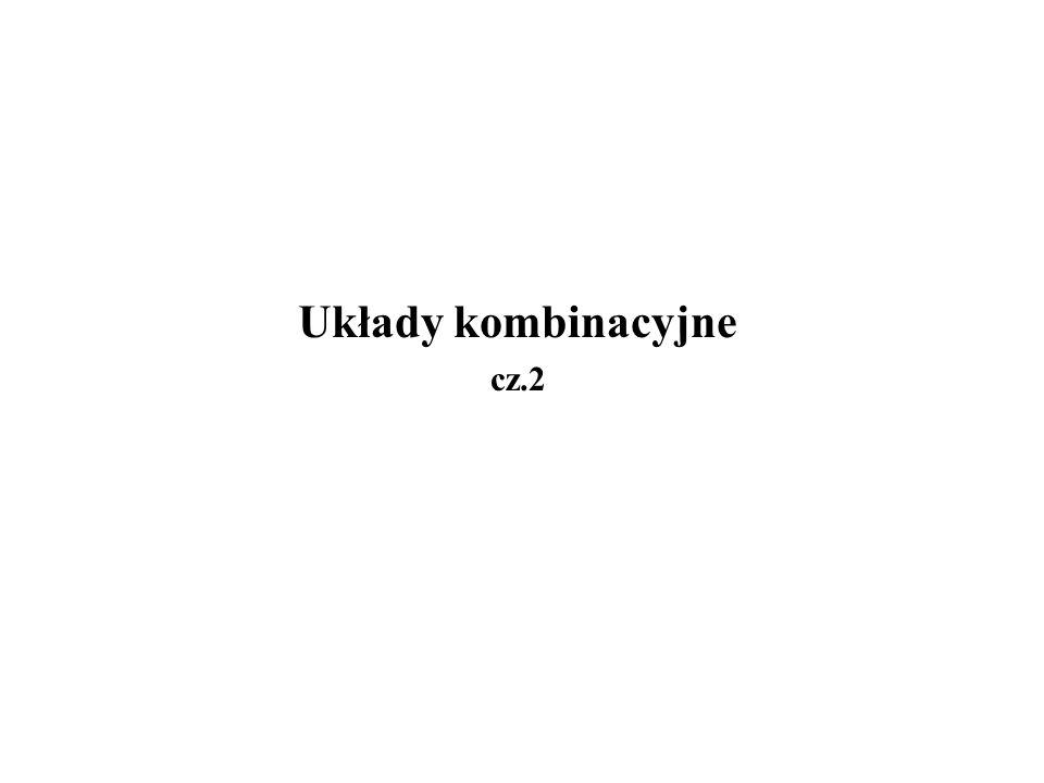 Układy kombinacyjne cz.2