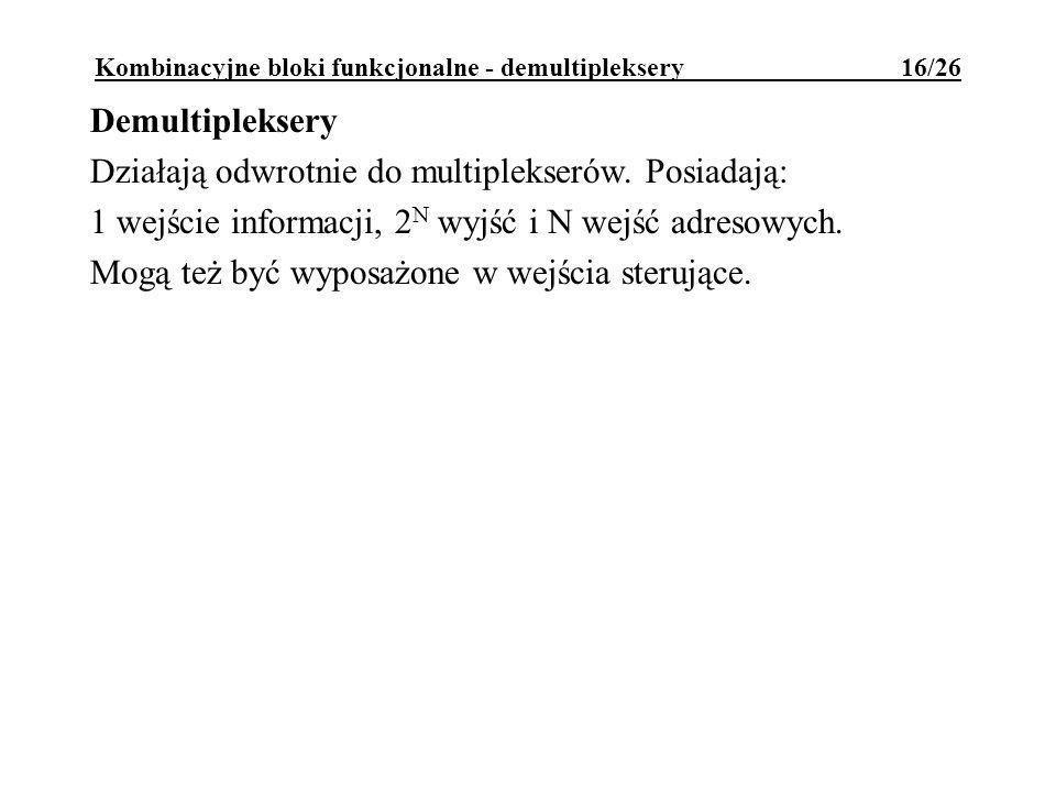 Kombinacyjne bloki funkcjonalne - demultipleksery 16/26