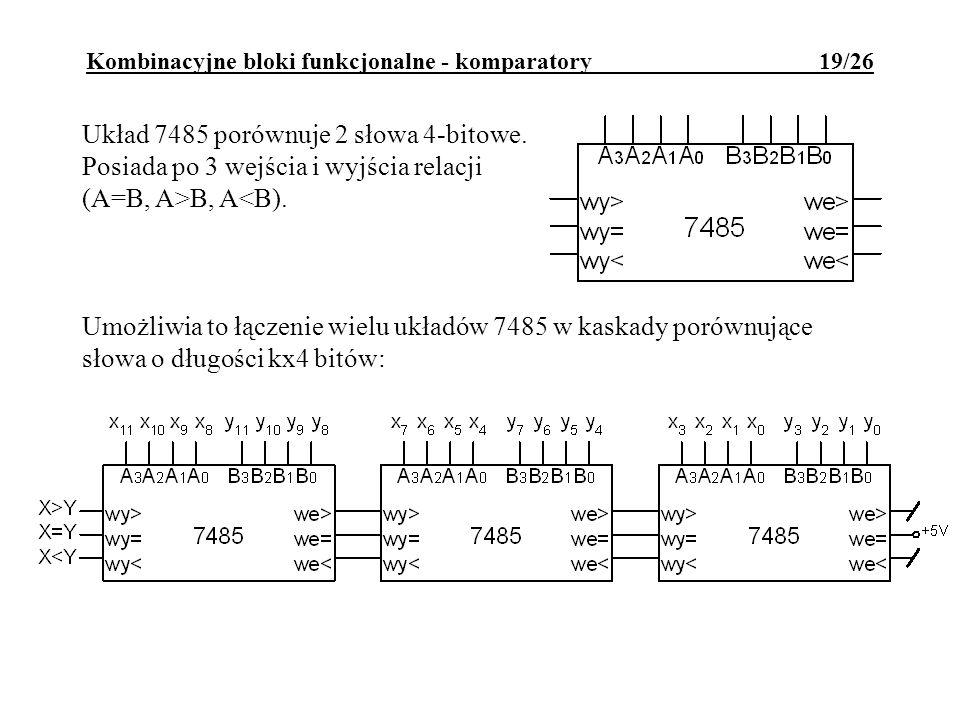 Kombinacyjne bloki funkcjonalne - komparatory 19/26
