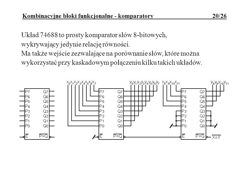 Kombinacyjne bloki funkcjonalne - komparatory 20/26