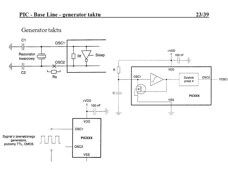 PIC - Base Line - generator taktu 23/39