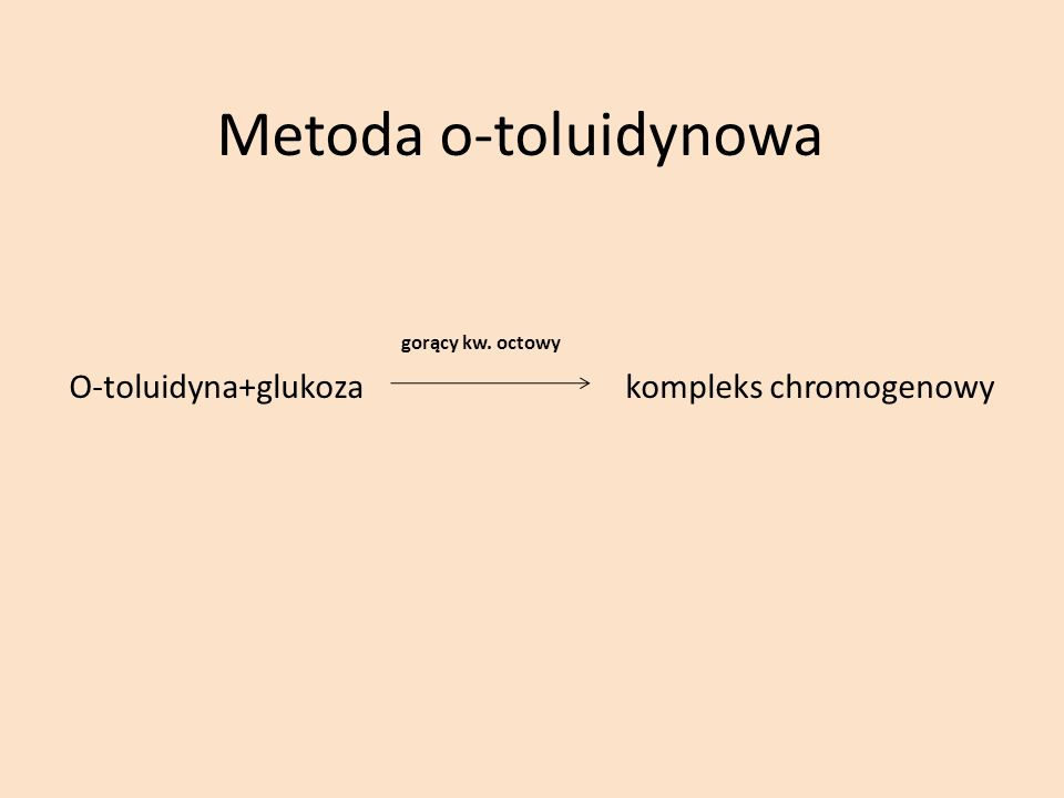 Metoda o-toluidynowa gorący kw. octowy