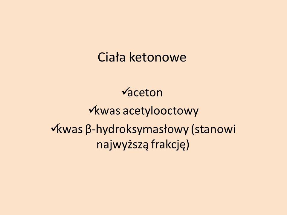 kwas β-hydroksymasłowy (stanowi najwyższą frakcję)