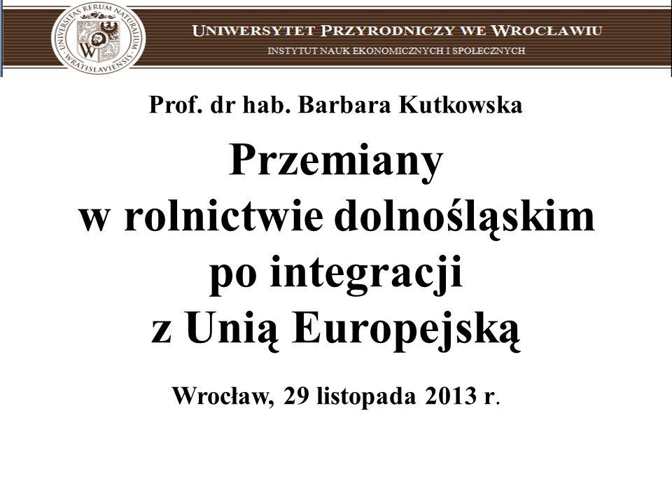 Uniwersytet Przyrodniczy we Wrocławiu Prof. dr hab. Barbara Kutkowska