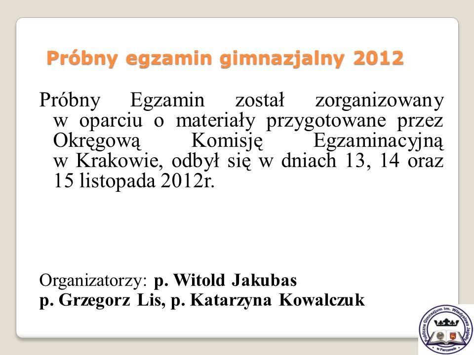 Próbny egzamin gimnazjalny 2012