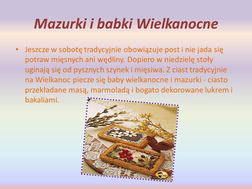 Mazurki i babki Wielkanocne