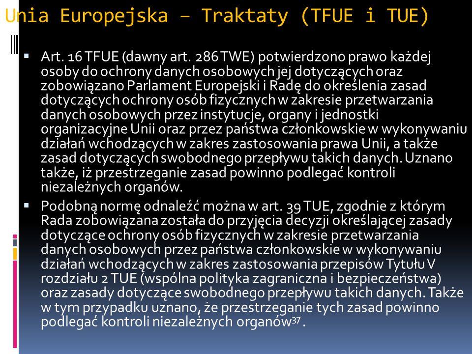 Unia Europejska – Traktaty (TFUE i TUE)