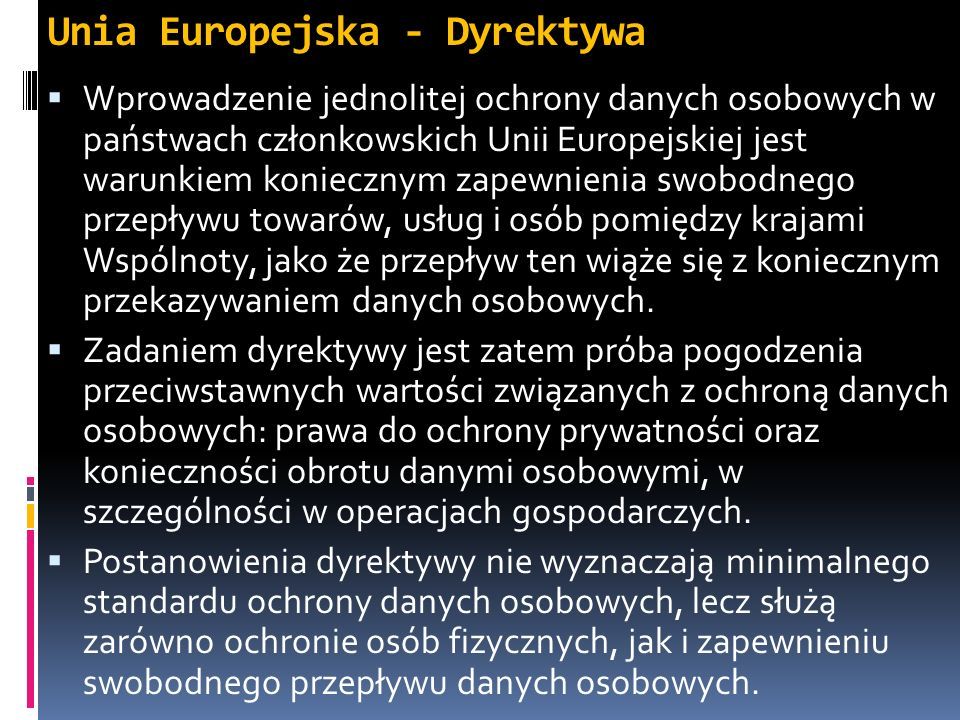 Unia Europejska - Dyrektywa