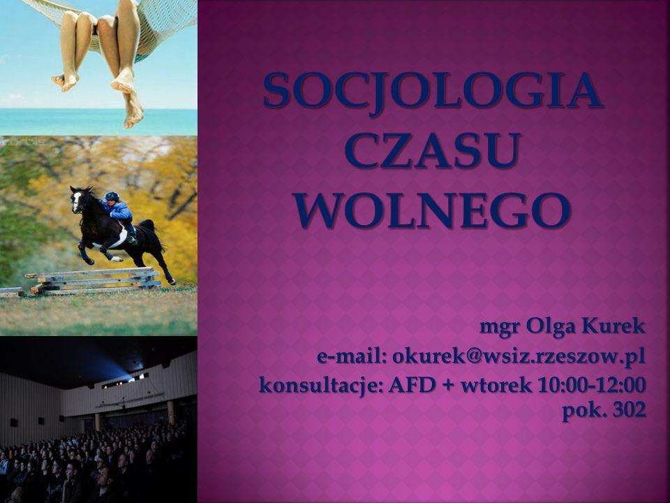 SOCJOLOGIA CZASU WOLNEGO